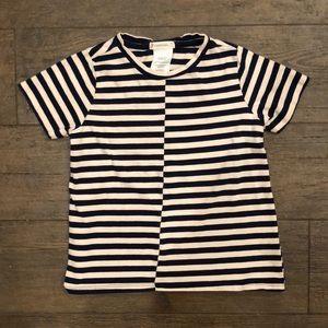 Crewcuts Striped Cotton Tee- Navy/White, 4/5